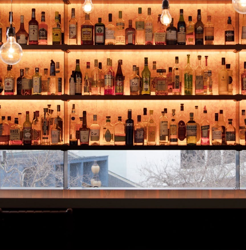 Our fully stocked office bar